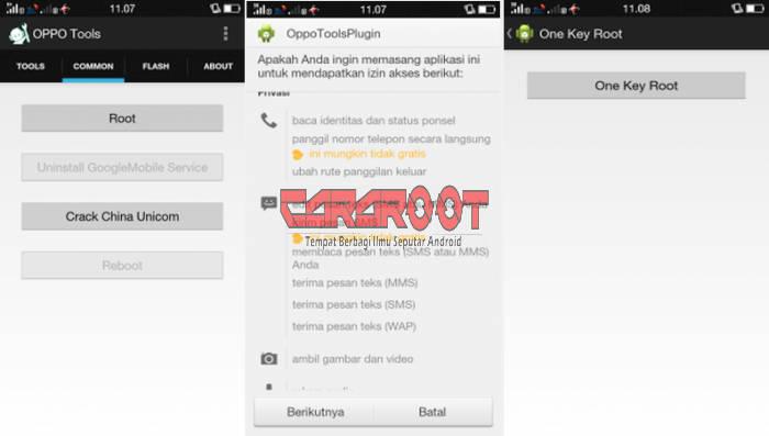 Cara Root HP Oppo Via Oppo Tools