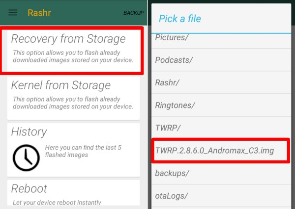 Ngawax Android: Cara Install TWRP 2.8.6.0 Buat Andromax C3