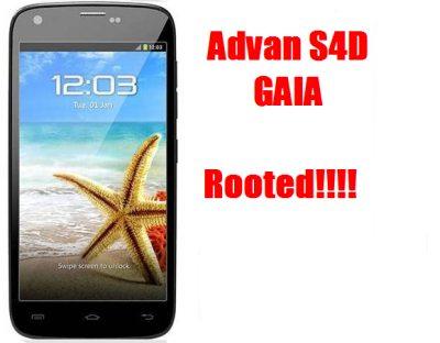Cara Root Advan S4d