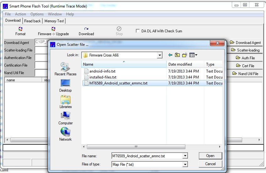 SP Flash Tool Scatter File