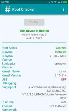 cek status root Redmi Note 3