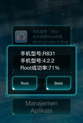 pilih tombol root