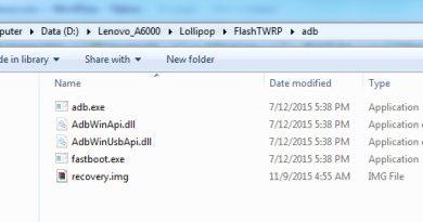 Cara Pasang TWRP Lenovo A6000 via Fastboot