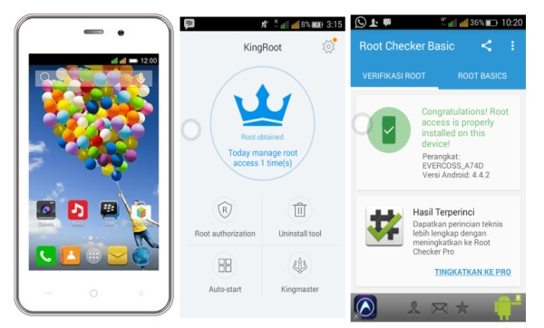 Cara Mudah Melakukan Root di Smartphone Evercoss A74C 1