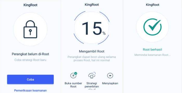 Proses Root Menggunakan Kingroot