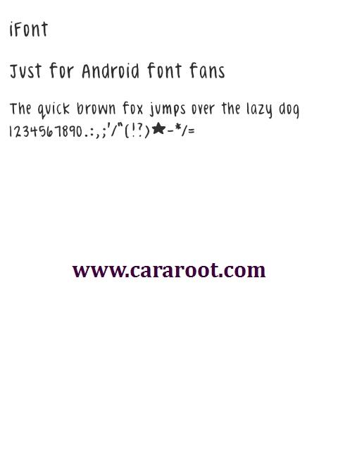 Celeste Hand itz Font For Vivo 1