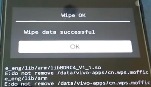 wipe data Vivo V5 Plus sukses