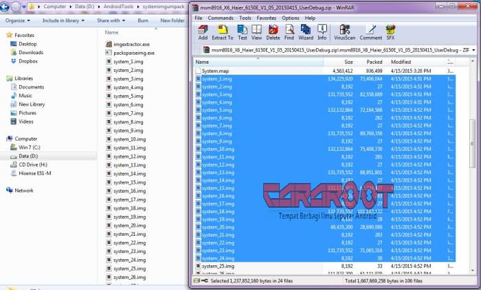 Tutorial Cara Unpack System_1.img, System_2.img, System_3.img dan Seterusnya 1