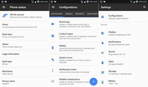 ROM Resurrection Remix Android 7.1.2 Nougat Redmi 2 2