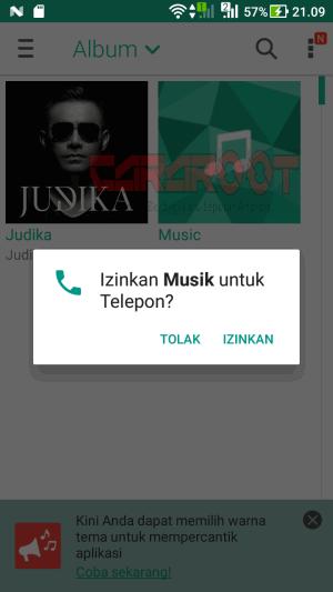 buka aplikasi Musik Player