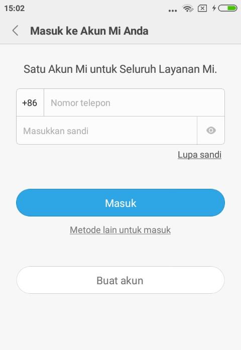 akun mi di Redmi Note 5 Dan Note 5 Pro