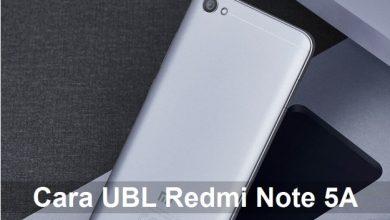 Cara UBL / Unlock Bootloader Xiaomi Redmi Note 5A / Prime 6