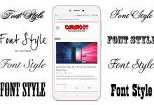 2 Cara Ganti Font Style atau Gaya Huruf di Xiaomi MIUI 7 / 8 / 9 / 10 10
