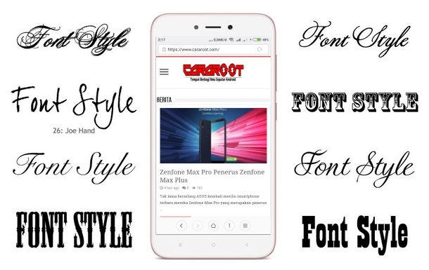 2 Cara Ganti Font Style atau Gaya Huruf di Xiaomi MIUI 7 / 8 / 9 / 10 1