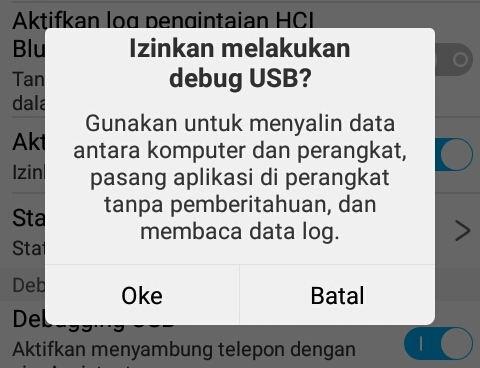 Notifikasi Izinkan USB Debugging