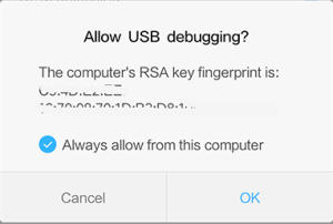 Notifikasi RSA Key Fingerprint Xiaomi 5A