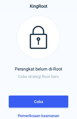 Tombol Try Root Kingroot