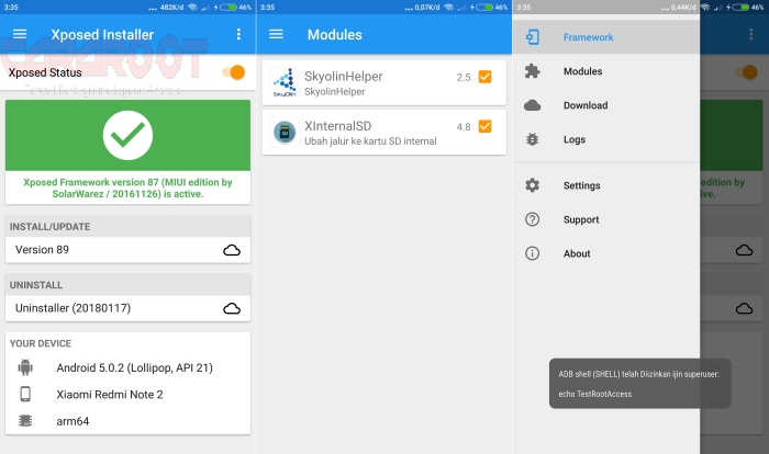 Cara Pasang Xposed Framework Di Redmi Note 2 Lollipop