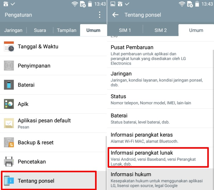 Cara Mengaktifkan Developer Option dan USB Debugging di LG 1
