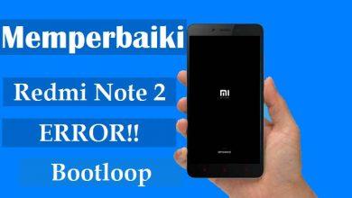 Cara Memperbaiki Redmi Note 2 Error/Stuck di Logo 3