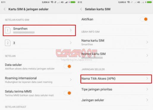 Cara Setting APN HP Xiaomi