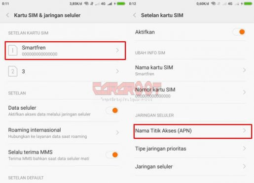 Menambahkan APN Smartfren Di Xiaomi