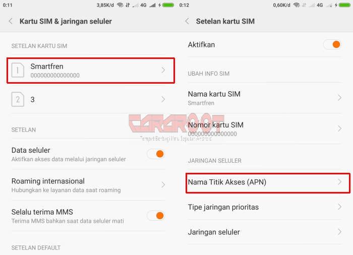 Cara Pakai Smartfren 4G di Xiaomi Redmi Note 3 / Note 3 PRO 4