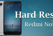 Cara Hard Reset / Factory Reset Redmi Note 2 4
