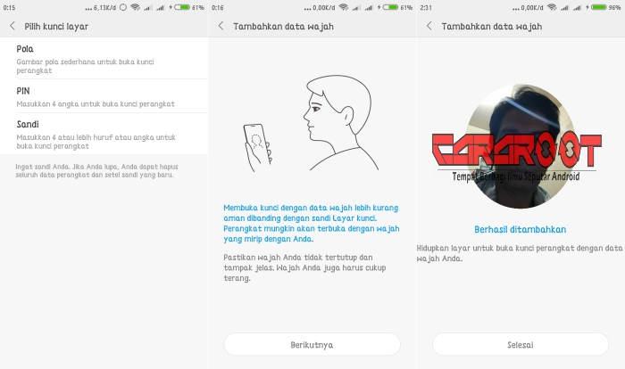 Cara Menambah Fitur Face Unlock Redmi 5A 4