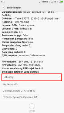 Setel Jaringan 4G Only Redmi Note 2
