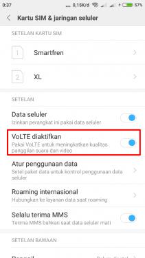 Opsi Volte Di Xiaomi