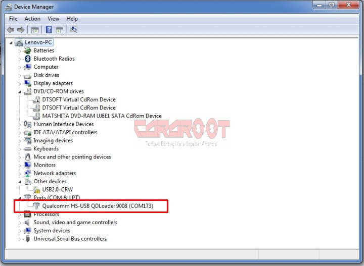 Gambar File EDL (Emergency Download Mode) Andromax A, E2, C3, G2, Q 1