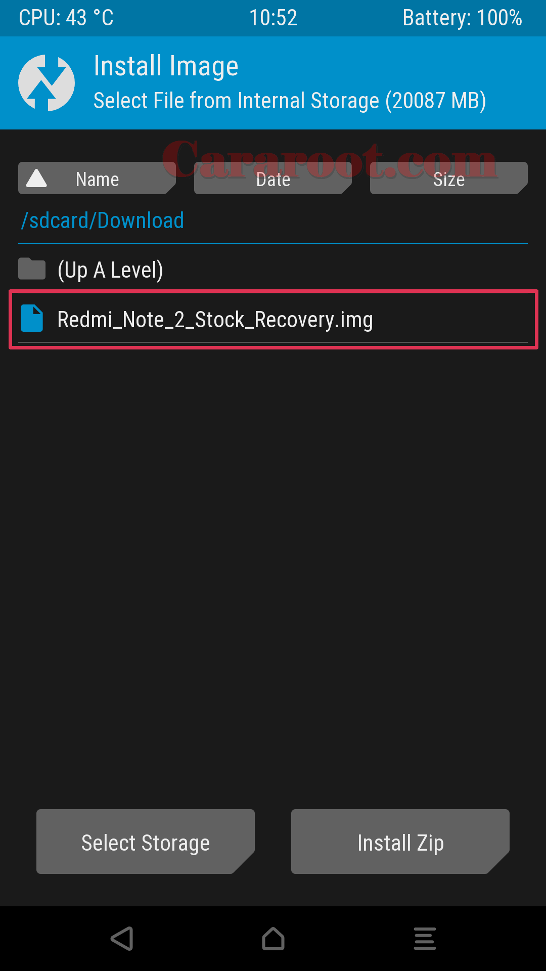 Download Stock Mi Recovery / Recovery Bawaan Redmi Note 2 3