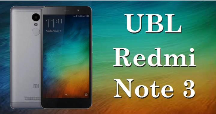 Cara Unlock Bootloader (UBL) Di Redmi Note 3 / PRO / SE