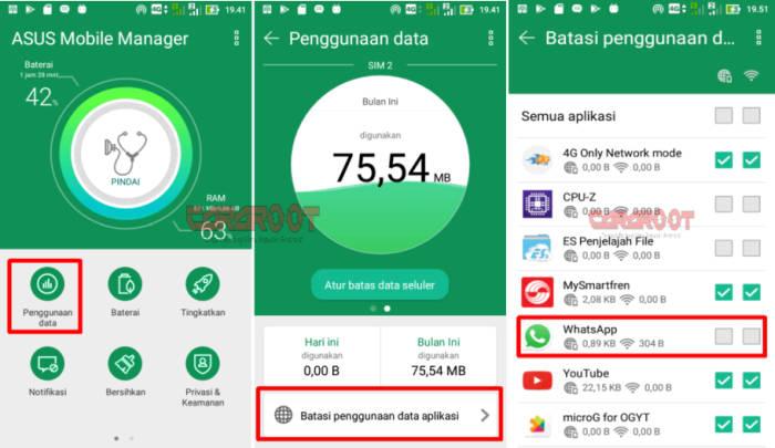 Cara Menonaktifkan Sementara Whatsapp ASUS