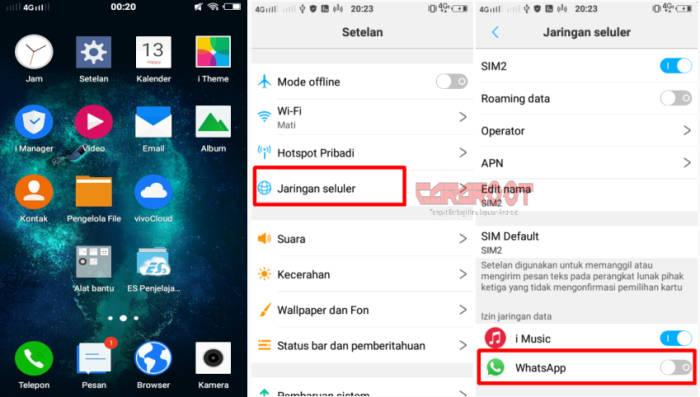 Cara Menonaktifkan Whatsapp Sementara Vivo