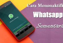 Cara Agar WA / Whatsapp Tidak Aktif Sementara di HP OPPO, ASUS, Xiaomi dan Vivo 3