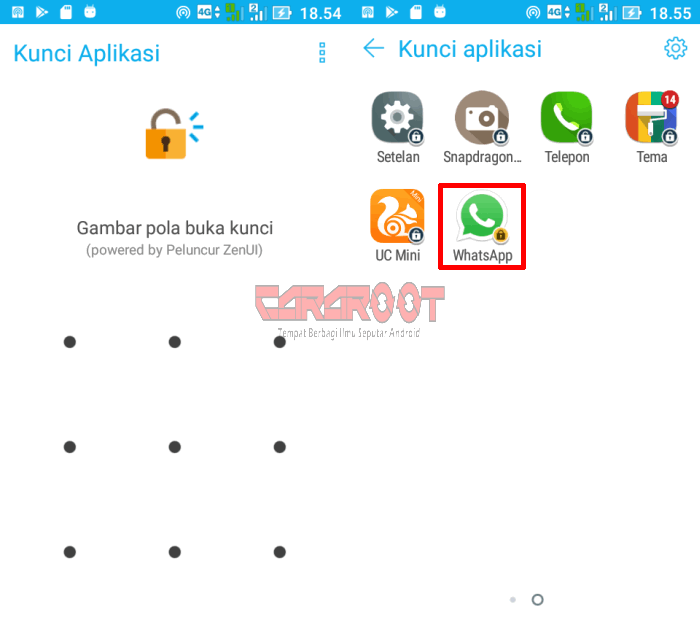 password whatsapp di zenfone