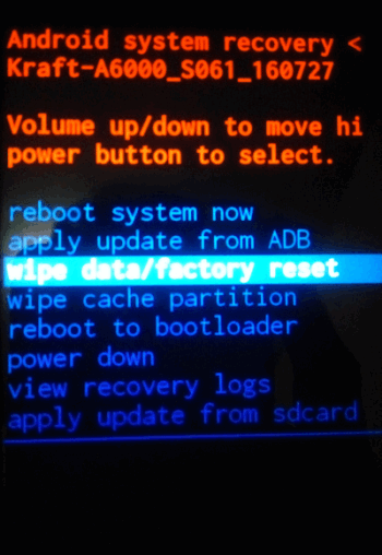 Cara Hard Reset Lenovo A6000, A6010 Dan A2020