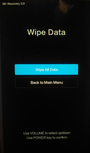 wipe all data