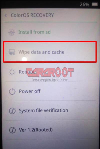Wipe Data And Cache