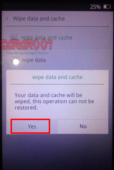 konfirm wipe data Oppo f1