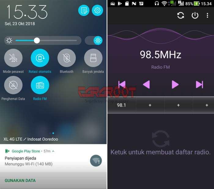 Cara Menggunakan Radio FM di Asus Zenfone 4 Max 3
