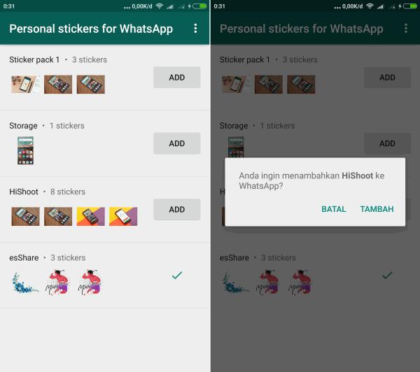 personal sticker Whatsapp