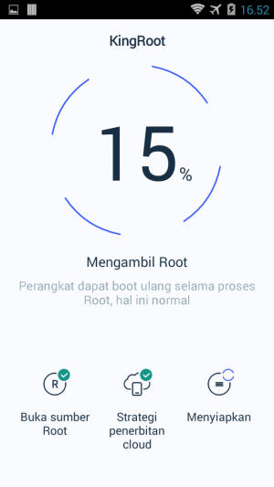 Proses Root Kingroot Pada HP Evercoss
