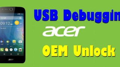 Cara Mengaktifkan USB Debugging Dan OEM Unlock Di Acer 5