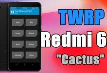 """Cara Pasang / Install TWRP Xiaomi Redmi 6A """"Cactus"""" Android Oreo 8"""