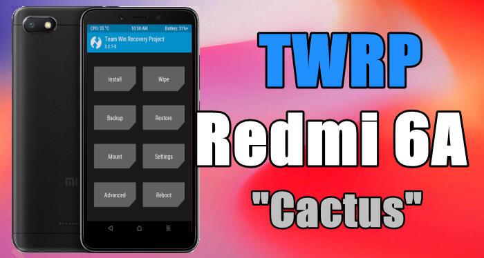 "Gambar Cara Pasang / Install TWRP Xiaomi Redmi 6A ""Cactus"" Android Oreo 1"
