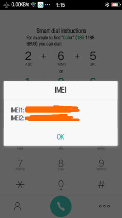 Cek IMEI OPPO via Dial Telepon
