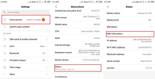 Cara Cek Nomor IMEI Resmi Atau Bukan Di Semua HP Xiaomi 1